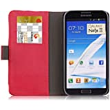 U-Bop PurVIEW Horizontal Leather Case Stand for Samsung Galaxy Note 2 Red