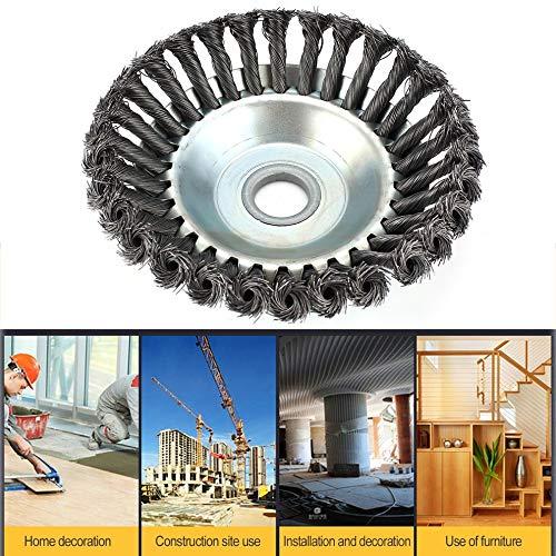 1 Stück 180 x 25 mm Kräuterbürste, drehbar, Stahl mit hohem Kohlenstoffgehalt, Flache Bürste, Polnische Trimmer Head Kit & 1 Stück -