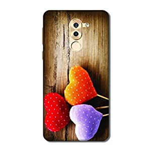 Overshadow Case Cover For Huawei Honor 6X (Hard black Printed Panels)