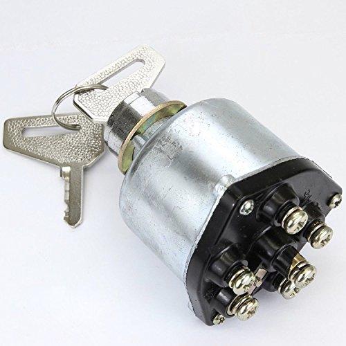 Preisvergleich Produktbild phil trade® Traktor Minibagger Bagger Zündschloss 2 Schlüssel 6 Kontakte