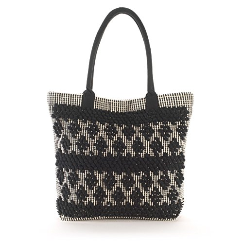 R Studio Donna Borsa Shopping Bianco/Nero