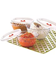 borosil glass mixing bowl set with lid