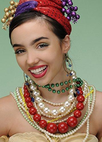 Perlen Schmuck Set (Carmen Miranda Kostüm)