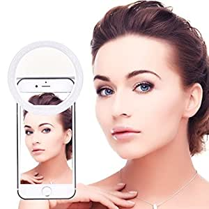 BUYERZONE WITH BZ LOGO Portable Selfie Beauty LED Ring Flash Night Light for All Smartphones