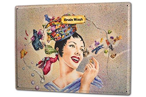 tin-sign-xxl-fun-ravtive-brainwashing-woman-head-thoughts-clothesline