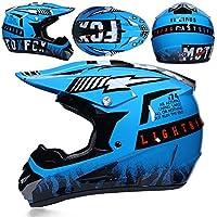 CFYBAO Casco de Motocross Adulto Gafas máscara Guantes Fox Moto Racing Casco Completo de la Cara