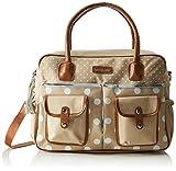 bebe-jou 310039 Wickeltasche in gepunktete Naturfarben und mit passender Wickelunterlage, beige thumbnail