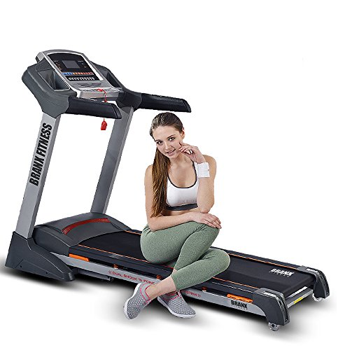 Branx Fitness Foldable 'Elite Runner Pro' Soft Drop System Treadmill - 6.5HP...