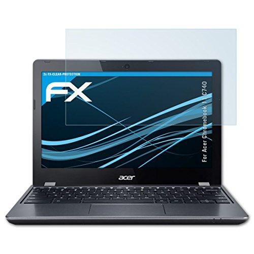 atFolix Schutzfolie kompatibel mit Acer Chromebook 11 C740 Folie, ultraklare FX Displayschutzfolie (2X)