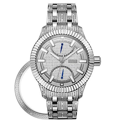 JBW Diamante Hombre Acero Inoxidable Reloj–Crowne Plata