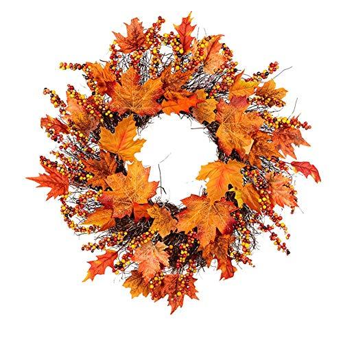 mysticall Corona de rama de fruta de ratán, corona de Navidad artificial...
