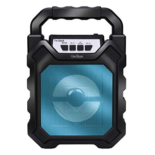 Enceinte Bluetooth, Chshe, Enceinte Multimédia Sans Fil, Portable Led 50W Bt4.2 + Der Entièrement Alimenté, Mini Caméra H9 Hd, Petite Taille, Facile À Cacher (Bleu)