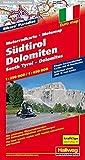 Südtirol-Dolomiten Motorradkarte 1 : 650.000: 15 Motorradtouren, Unterkünfte, Sehenswürdigkeiten (Hallwag Freizeitkarten) - Hallwag