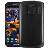 mumbi ECHT Ledertasche für Samsung Galaxy S4 Leder Tasche Etui (Lasche mit Rückzugfunktion)