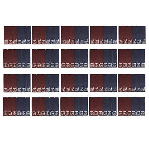 Sharplace 20 Blätter Geschenkaufkleber Papier Geschenkesticker Etiketten Sticker Aufkleber für Backen Süßigkeiten Papiertüten Party Beutel (Papier-puppen Ostern)