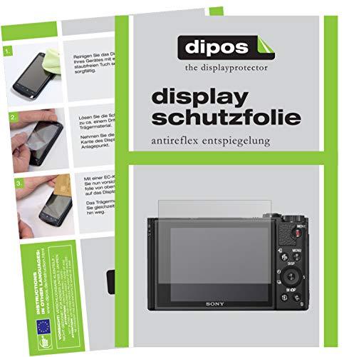 dipos I 6X Schutzfolie matt passend für Sony DSC-HX99 Folie Displayschutzfolie