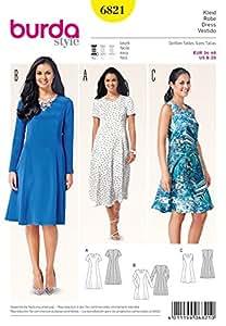 Patron de couture Burda Mesdames facile 6821–prncess couture Robes