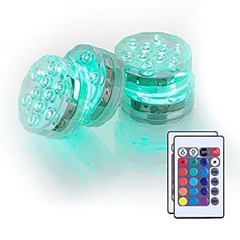 4 Packung Shisha LED Licht 3aaa batteriebetrieben 7cm RGB Multicolors Wasserdichte LED leuchtet Untersetzer mit Fernbedienung für das Rauchen Shisha Hookah Beleuchtung Dekoration