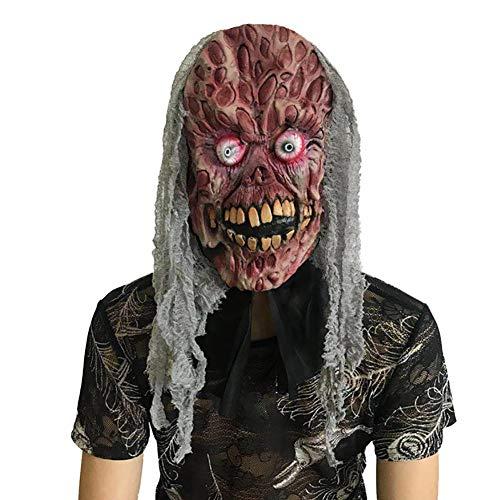 Horror Schädel Maske, Halloween Scary Show, Latex Red Zombie Maske, Ghost Face Devil Monster (Halloween Schädel-maske Scary)