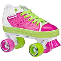 Roller Derby Zinger Quad Pattini A Rotelle, Pink/Lime/White, 3 UK