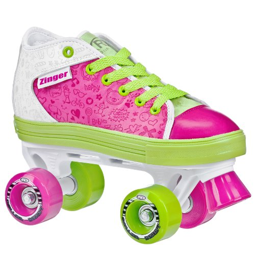 ROLLER DERBY Zinger para patines de la niña, niña Unisex mujer Niños hombre, Pink/White/Lime