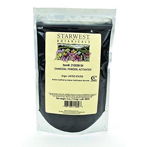 Starwest Botanicals FOOD GRADE US Hardwood Activated Charcoal Powder, 4...