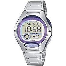 Casio Reloj Digital para Mujer de Cuarzo con Correa en Acero Inoxidable LW-200D-