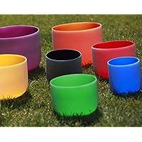 Cvnc coloré Lot de 7pcs Cristal de Quartz givré à bols chantants 15et
