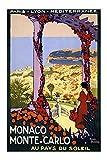 Vintage Travel Poster Tin Sign of Retro Monaco Monte-Carlo
