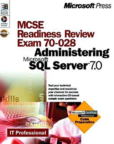MCSE Readiness Review: Administrating SQL Server 7 por Jill Spealman