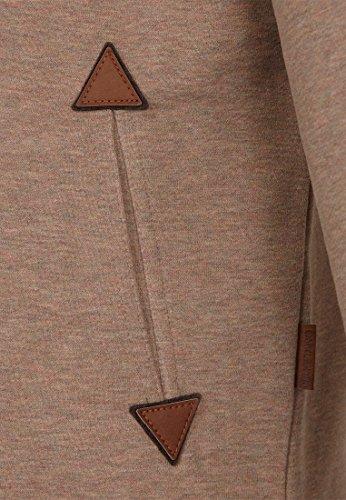 Naketano Male Zipped Jacket Du Affenmensch IV Dünnschiss Kotze Melange