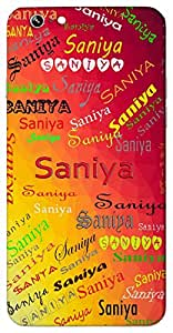 Saniya (A moment in time) Name & Sign Printed All over customize & Personalized!! Protective back cover for your Smart Phone : Moto G-4-Plus