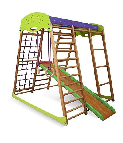 Kindersport Ecke ˝Karamelcek˝, Ringe, Kletterstange , Kinderrutsche , Kletternetz , Sprossenwand