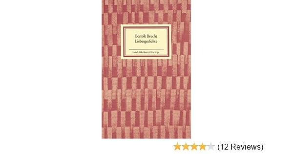 Liebesgedichte Insel Bücherei Amazonde Bertolt Brecht