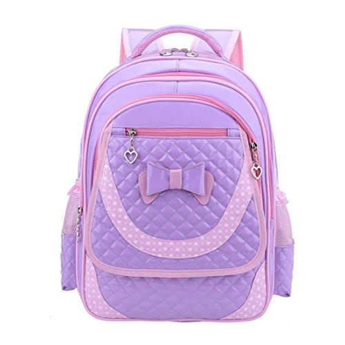 Schulrucksack, Likeluk Kinderrucksack Daypack Schultasche Grundschule Backpack Schulranzen für Mädchen Jungen Lila