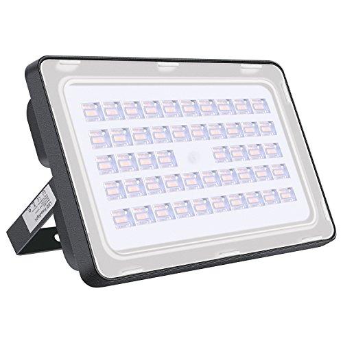 Viugreum 150W LED Aussenstrahler, LED Fluter Aussen Warmweiss(2800K - 3200K), 18000LM, IP65 Wasserdicht LED Scheinwerfer mit Europäisches Patent Wasserdichte Led-scheinwerfer