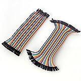Neuftech 40 x 20cm female-female male-female jumper wire kabel Steckbrücken Drahtbrücken für Arduino Raspberry pi