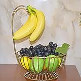 Obstkorb Metall Wohnzimmer Banana Haken Korb Haushalt Le Obstkorb Lagerregal,Champagne