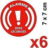 Autocollants Alarme - Stickers dissuasifs résistants aux UV / humidité - Lot de 6