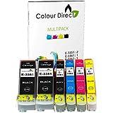 Colour Direct - 1 jeu + 1 Extra Noir - Compatible 33XL cartouches d'encre Remplacement Pour Epson XP-530 XP-540 XP-630 XP-635 XP-640 XP-645 XP-830 XP-900 imprimantes. Remplace Orange series . 2 X 3351 1 X 3361 1 X 3362 1 X 3363 1 X 3364