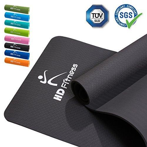 BodenMax® Gym und extra Dicke und weiche Matten, TPE, insgesamt 8 Farben. Ideal Pilates Yoga, Fitne...