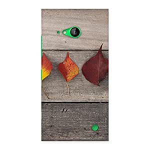 Impressive Leaves on Wood Back Case Cover for Lumia 730
