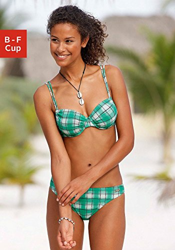 BUFFALO Marken-Bügel-Bikini grün-creme Größe 36 D-Cup