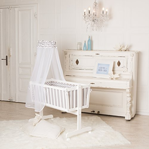 Puckdaddy Baby-Wiege 90 x 40 cm, auch als Kinderbett nutzbar