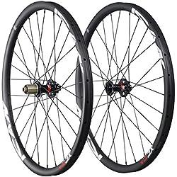ICAN 650B XC bicicleta de llanta de carbono Ruedas para bicicleta 30mm de ancho 15x 100mm trasero 12x 142mm Shimano buje