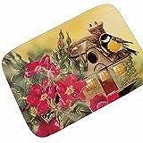 WANG-shunlida Die Blume und Vogel Malerei das Wohnzimmer Schlafzimmer Teppich Matte Matte 185 G saugfähiges Rutschfeste Flanell, 40 X 60 cm, E