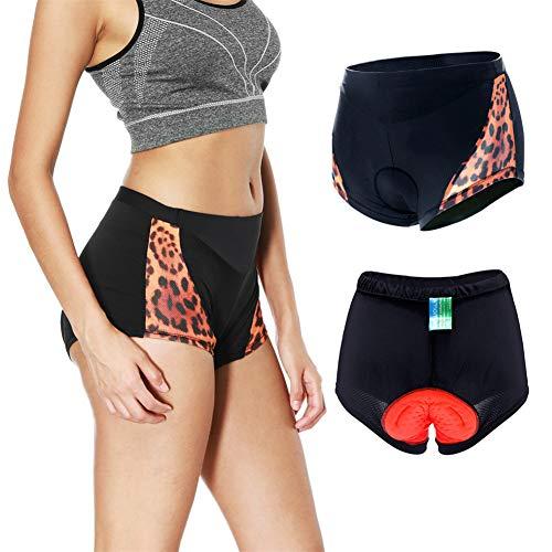 AIWUHE Damen Radunterhose 3D Gel Gepolsterte MTB Fahrrad Unterwäsche Fahrradunterhose Radsport Underwear Pants Bike Fahrradunterwäsche Slips Briefs