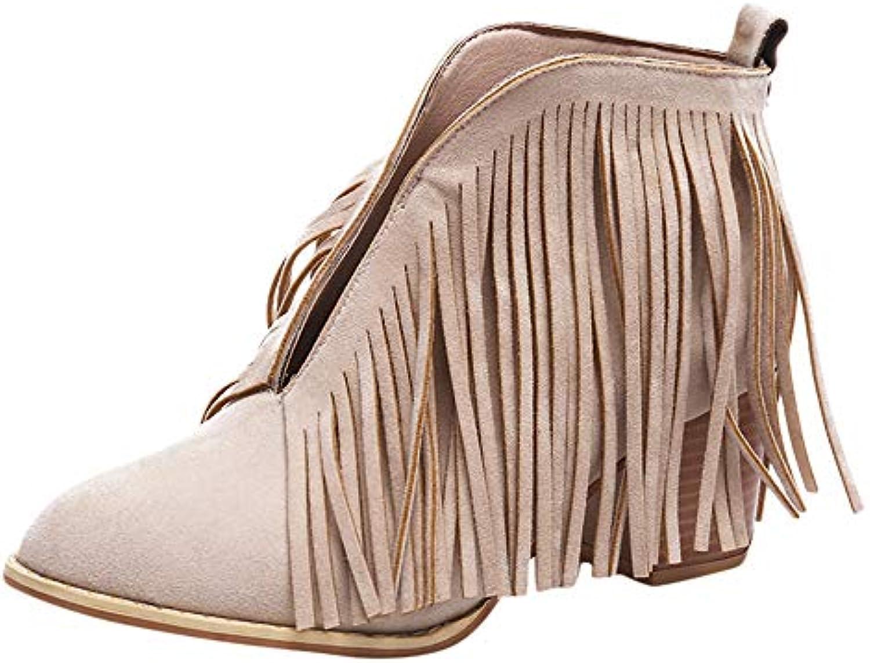 Bottes de Neige,Subfamily Ankle Boots Bottes Bottine De Neige des Franges Bottines épaisses Bottine Bottes Pointue Bottes en...B07K6RHRMGParent d4122b