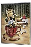 LEotiE SINCE 2004 Blechschild XXL Kaffee Cafe Bar Kaffee Espresso Cappuccino