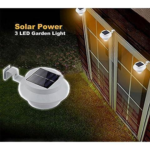 Bluelover Solar Powered LED valla jardín luz aplique vestíbulo vía